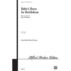 Baby's Born in Bethlehem - 3-Part W/Optional Flute and Bells L3