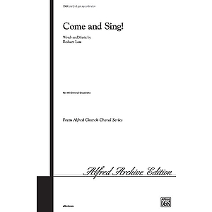 Come and Sing - 3-Part Any Combination W/Optional Finger Cymbals