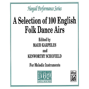 Selection of 100 English Folk Dances Airs Soprono Or Tenor Recoder Solo