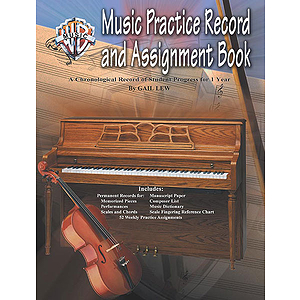 Music Practice Record and Assignment Book A Chronological Record of Student Progress for 1 Year