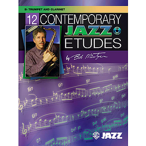 12 Contemporary Jazz Etudes BB Trpt/Clarinet