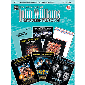 John Williams: the Very Best of John Williams - Cello - Book & CD