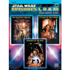 Star Wars - Episodes I, II & III (Flute) - Book & CD