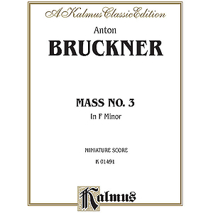Bruckner - Mass in F Minor - Miniature Score