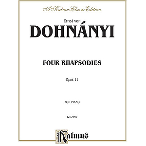 Dohnanyi - 4 Rhapsodies Opus 11