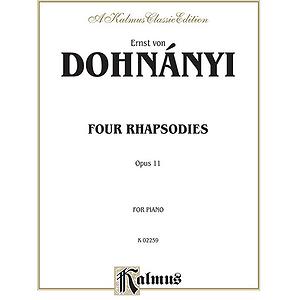 Dohnanyi - 4 Rhapsodies Opus 11