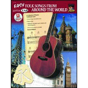 Guitar Tab: Easy Folk Songs From Around the World - Book & CD