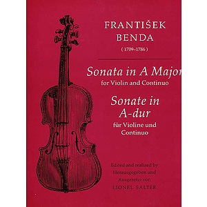 Benda F /Sonata in A Major