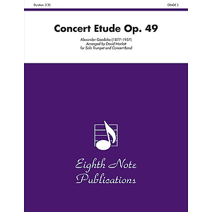 Concert Etude, Op. 49 (Solo Trumpet and Concert Band)