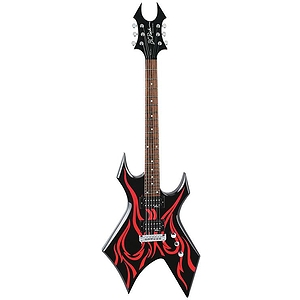 B.C. Rich Metal Master Warlock Electric Guitar - Tribal Fire