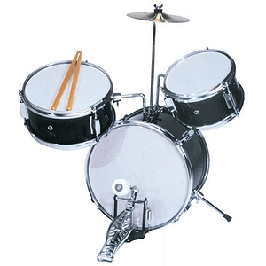 "Excel 3 Piece ""Mini"" Drumset, Black"