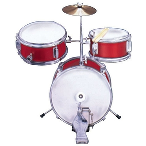 "Excel 3 Piece ""Mini"" Drumset, Red"