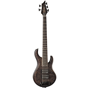 B.C. Rich John Moyer Signature Havoc 5 String Electric Bass, Black Vapor