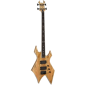 B.C. Rich Paolo Gregoletto Signature Warlock 4 String Neck Through Electric Bass, Natural