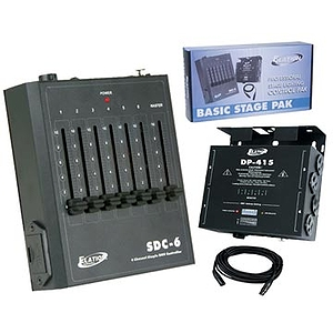 American DJ Basic Stage Pak - Par Can Control System w/ Dimmer, Controller, Power Supply & Cable