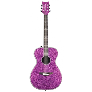 Daisy Rock Pixie Acoustic Guitar - Pink Sparkle