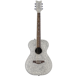 Daisy Rock Pixie Folk-size Acoustic Guitar - Silver Sparkle