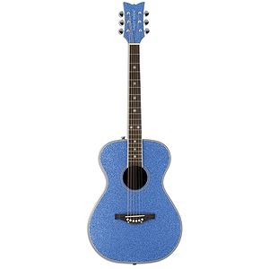 Daisy Rock Pixie Folk-size Acoustic Guitar - Blue Sparkle
