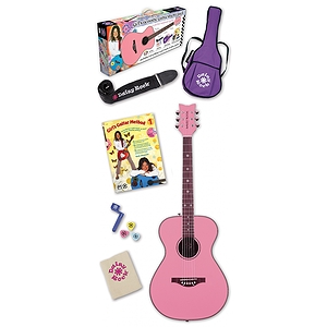 Daisy Rock Pixie Acoustic Guitar Starter Pack - Pink