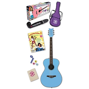 Daisy Rock Girl's Acoustic Guitar Starter Pack - Blue
