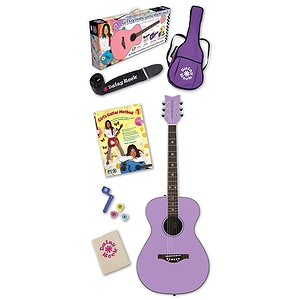 Daisy Rock Pixie Acoustic Guitar Pack - Pixie Purple