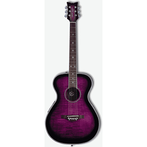 Daisy Rock Pixie Series Acoustic-Electric Guitar - Plum Purple Burst - Left-Handed