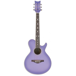 Daisy Rock Wildwood Acoustic Guitar - Purple Daze