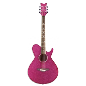 Daisy Rock Wildwood 3/4-size Acoustic Guitar - Atomic Pink