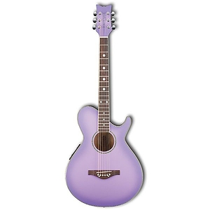 Daisy Rock Wildwood Acoustic-Electric Guitar - Purple Daze