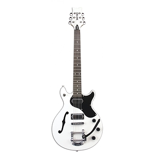 Daisy Rock Stardust Retro-H De-Luxe Guitar - White Lightning