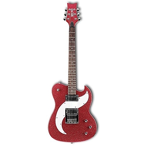 Daisy Rock Tom Boy Deuce Guitar - Ruby Sparkle