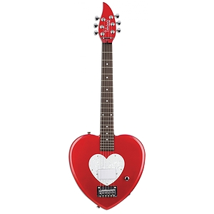 Daisy Rock Debutante Heartbreaker Short Scale Electric Guitar  (Red Hot Red)