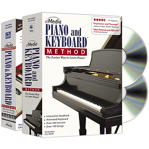 eMedia Piano & Keyboard Method Deluxe (2 Volume Bundle) Piano / Keyboard Instruction Software