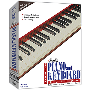 eMedia Intermediate Piano & Keyboard Method Piano / Keyboard Instruction Software
