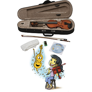 eMedia My Violin Kit (1/4-Size) Children's Violin Starter Outfit with Instructional Software