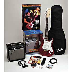 Squier® Strat® Pak Electric Guitar Starter Pack - Black