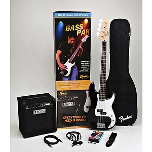 Squier® Bass Pak Bass Guitar Starter Pack - Black