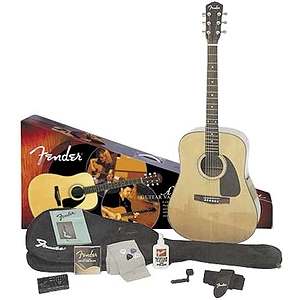 Fender® DG-8 Solid-Top Acoustic Guitar Package
