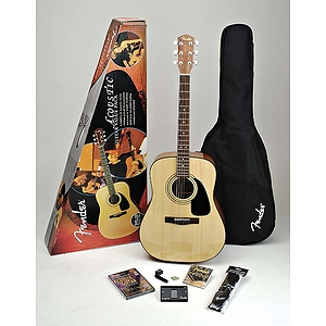 Fender® DG-8S Solid-Top Acoustic Guitar Package