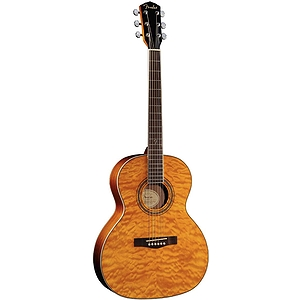 Fender GDO-300 Orchestra-Style Acoustic Guitar - Transparent Amber