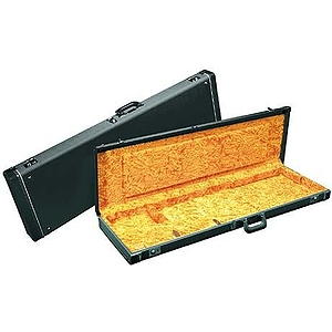 Fender® Deluxe Hardshell J-Bass Case - Black with Orange Plush Interior
