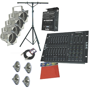American DJ Stage System A w/DMX Controller, Dimmer and Par Cans