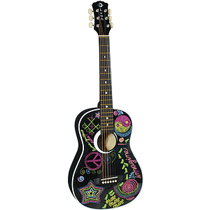 Luna Imagine Children's Mini-Acoustic Guitar - Blank Slate with Re-usable Markers