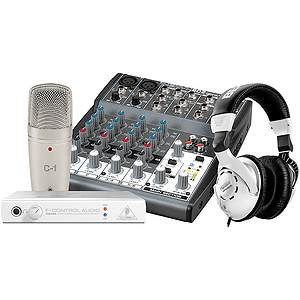 Behringer PODCASTUDIO Complete Podcast Recording Bundle with FireWire Interface