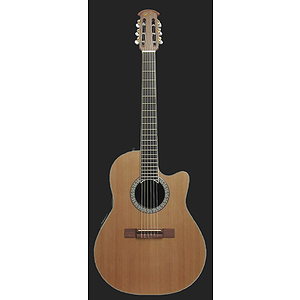 Ovation Celebrity CC059 Shallow-body Nylon-string Acoustic-Electric Guitar - Natural Cedar