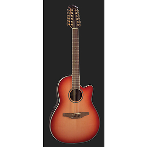 Ovation Celebrity CC245 Mid-Depth 12-string Acoustic-Electric Guitar - Honey Burst