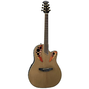 Ovation Celebrity Deluxe CC44 Mid-Depth Multi-soundhole Acoustic-Electric Guitar - Natural