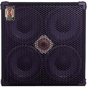 "Eden D410T8 T Series Bass Amplifier Cabinet - 4x10"", 500-watt, 8 ohm"