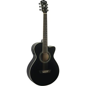 Washburn EA10 Festival Series Petite Jumbo Acoustic-Electric Guitar - Black