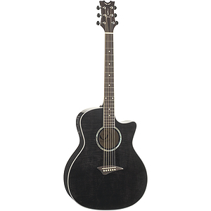 Dean Exotica FM Acoustic-Electric Guitar - Trans Black